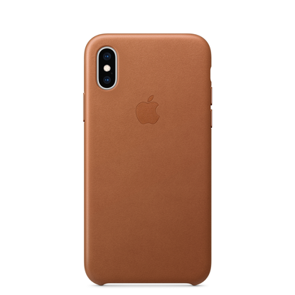 Picture of iPhone XS Leather Case Saddle Brown