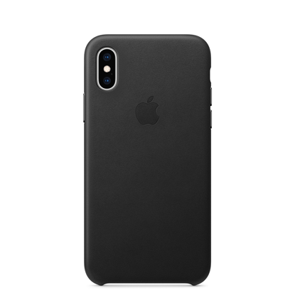 Picture of iPhone XS Leather Case Black